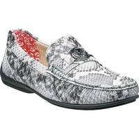 Stacy Adams Men's Cyprus Moc Toe Bit Loafer 25185 Black Multi Synthetic