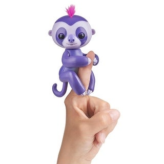 WowWee Fingerlings Interactive Baby Sloth Toy: Marge (Purple) - multi