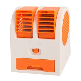 Portable Home Office Bladeless Cooling USB Battery Powered Personal Mini Fan Orange