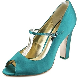 Nina Magnola Women Open-Toe Synthetic Green Mary Janes