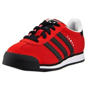 Adidas Samoa C Youth Round Toe Synthetic Red Sneakers