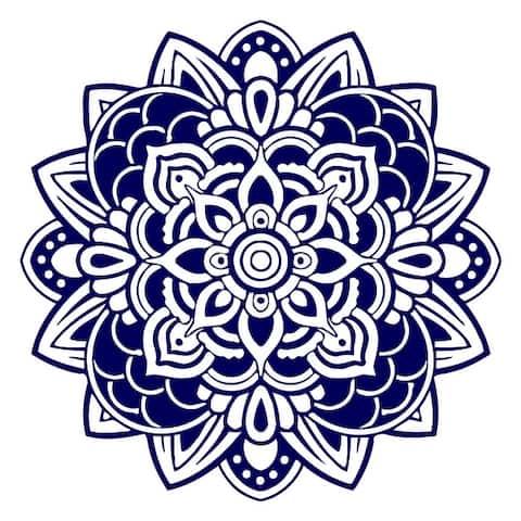 Mandala Wall Decals Om Sign Decal Yoga Sticker Vinyl Decals Wall Decor Murals Meditation Decor Pattern Namaste Yoga Studio