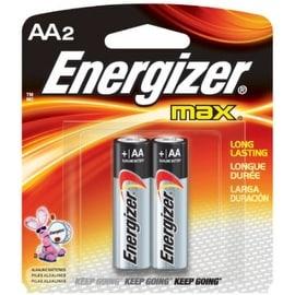 Energizer MAX Alkaline Batteries AA 2 Each
