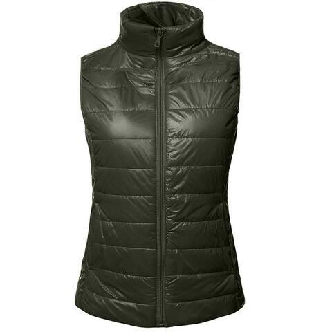 NE PEOPLE Womens Ultra Soft Lightweight Puffer Zip Padding Vest