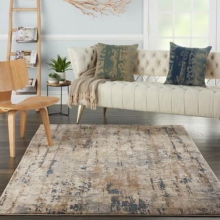 Nourison Concerto Abstract Rustic Grey Beige Area Rug