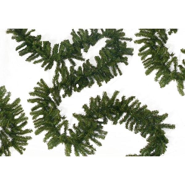 """100' x 10"""" Commercial Length Canadian Pine Artificial Christmas Garland - Unlit - Green"""