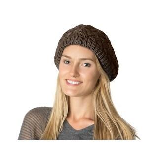 Womens Basket Beanie Beret Hat Lined