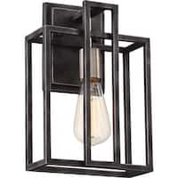 """Nuvo Lighting 60/5856 Lake Single Light 12"""" Tall Wall Sconce - iron black/brushed nickel accents"""