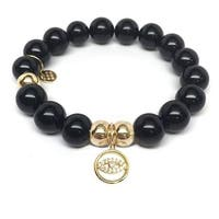 Julieta Jewelry Lucky Eye Charm Black Onyx Bracelet