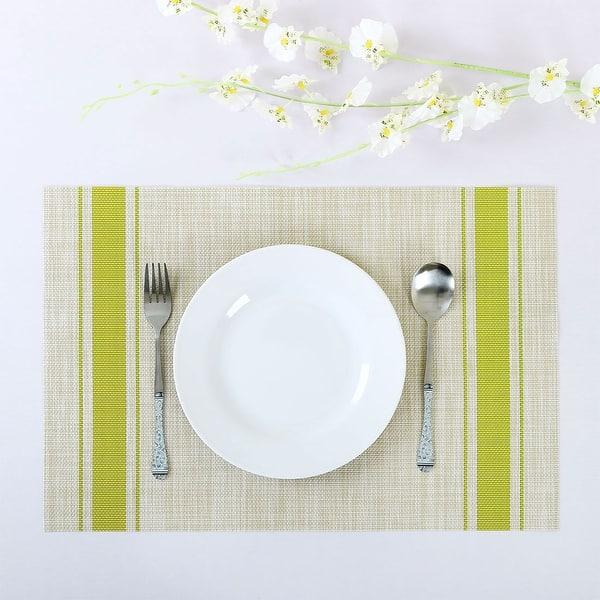 6 Pcs Heat-resistant Multifunctional Dinning Table Mats Set PVC Placemats