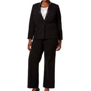 Tahari by ASL NEW Black Women's Size 20W Plus Solid Pant Suit Set