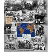 ''Slave Trade: From Africa to the Americas'' by Wishum Gregory African American Art Print (24 x 20 in.)