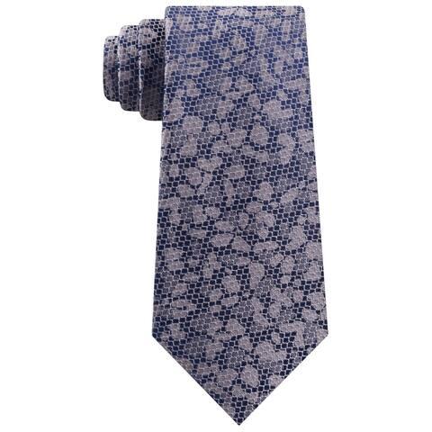 Michael Kors Mens Neck Tie Silk Professional - Grey/Navy - O/S