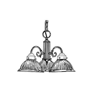 Designers Fountain 4254-PB 3 Light Down Light Chandelier with Prismatic Glass