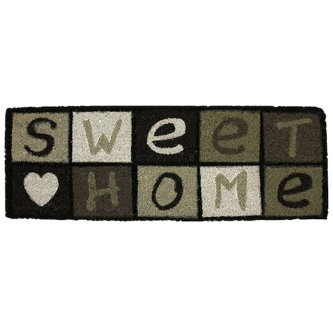 Sheltered Printed Large Front Door Mat Sweet Home Coir Coco Fibers Rug