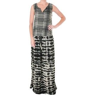 Beach Lunch Lounge Womens Sonali Printed Sleeveless Maxi Dress