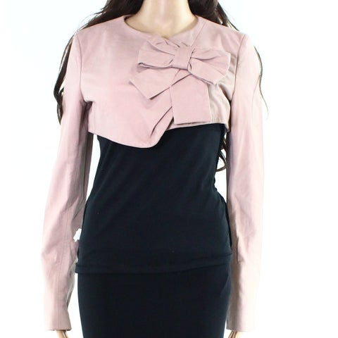 Valentino NEW Pink Womens Size 8 Bow-Detail Bolero Shrug Jacket
