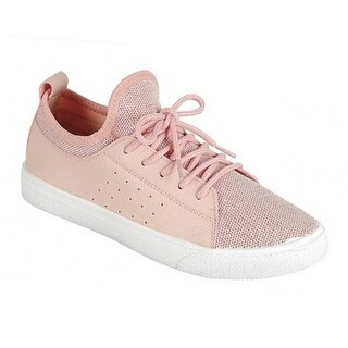 Adult Rose Tongue-ess Panel Lace-Up Closure Trendy Sneakers
