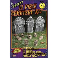 12 Piece Halloween Cemetery Kit Décor
