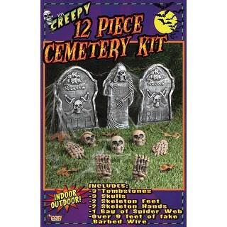 12 Piece Halloween Cemetery Kit Décor