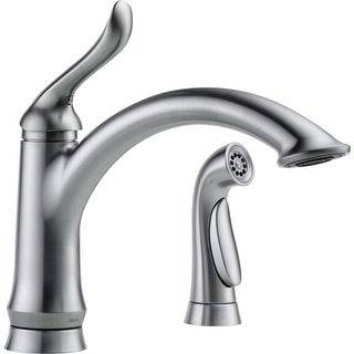 Delta 4453-DST Linden Kitchen Faucet with Side Spray and Optional Base Plate - Includes Lifetime Warranty (3 options available)