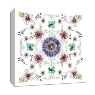 "PTM Images 9-147751  PTM Canvas Collection 12"" x 12"" - ""Floral Kaleidoscope I"" Giclee Flowers Art Print on Canvas"