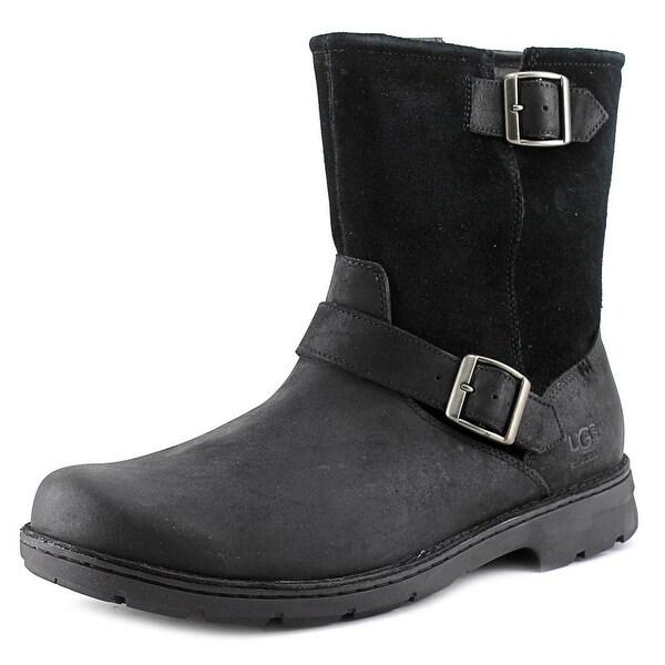 Ugg Australia Messner Men 3E Round Toe Leather Black Ankle Boot