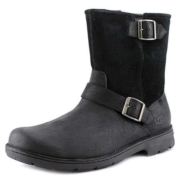 37ff84431ca Shop Ugg Australia Messner Men 3E Round Toe Leather Black Ankle Boot ...