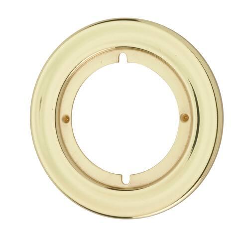 Kwikset 293 Small Round Escutcheon Plate - Polished Brass