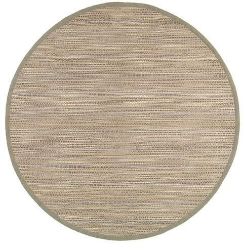 LR Home Natural Fiber Jute Distressed Stripe Rug