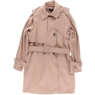 TopShop Womens Belted Tunic Pea Coat - 8