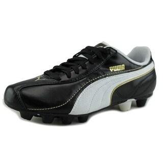 Puma Esito Xl R HG Youth Round Toe Synthetic Black Cleats
