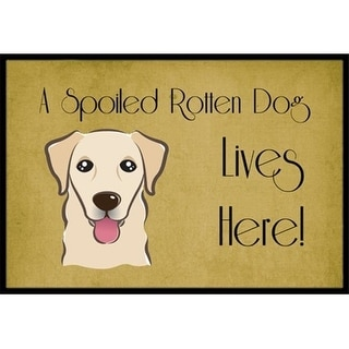 Carolines Treasures BB1500MAT Golden Retriever Spoiled Dog Lives Here Indoor & Outdoor Mat 18 x 27 in.