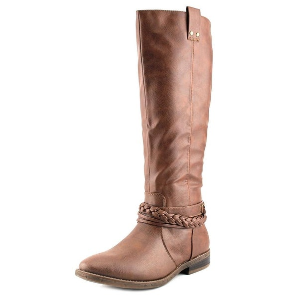 Rampage Ibsen Women Round Toe Synthetic Brown Knee High Boot