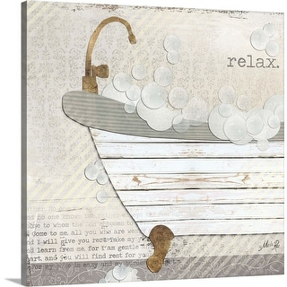 """Relax"" Canvas Wall Art"