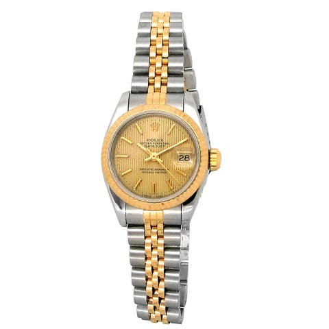 Pre-owned 26mm Rolex Two-Tone Lady Datejust - 7 inches