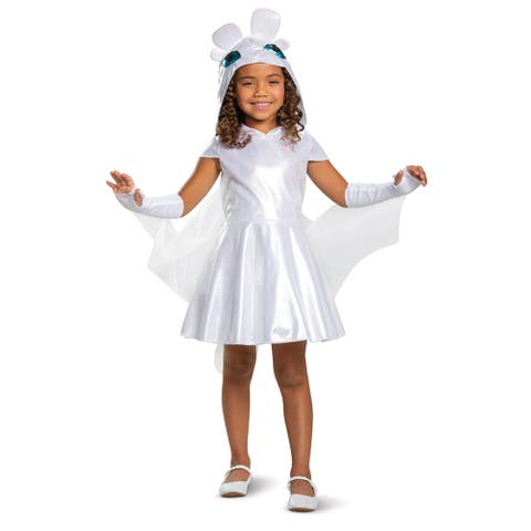 Girls Light Fury How to Train Your Dragon Costume