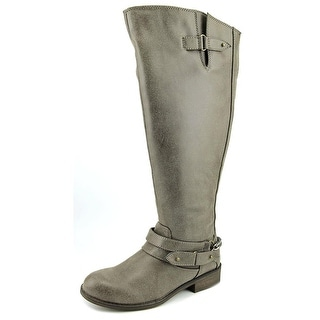 Madden Girl Caanyon Wide Calf Women Round Toe Synthetic Brown Knee High Boot