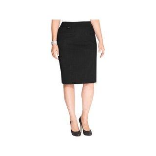 Calvin Klein Womens Plus Straight Skirt Coin Pocket Solid