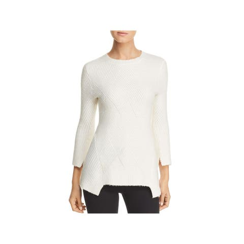 Heather B Womens Pullover Sweater - Ivory - S