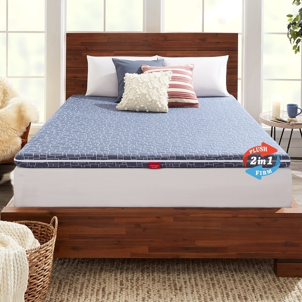 American Bedding 3 Inch Dual-Sided Hybrid Mattress Topper. Opens flyout.