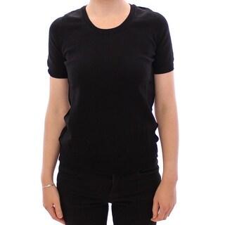 Dolce & Gabbana Dolce & Gabbana Black crewneck cotton t-shirt
