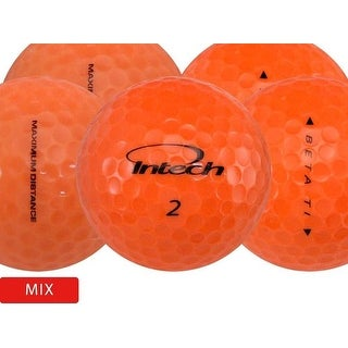 48 Assorted Orange Mix - Value (AAA) Grade - Recycled (Used) Golf Balls