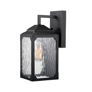 "Globe Electric 44192 Miller Single Light 13"" Tall Outdoor Wall Sconce with Water"