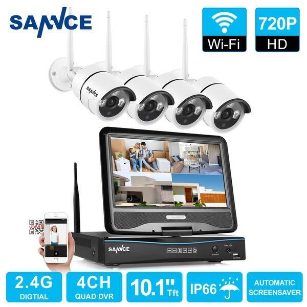 Sannce 4ch 720p Cctv Security Cameras System Wireless
