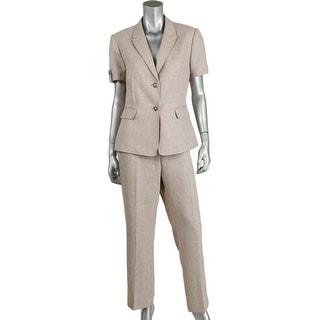 Tahari ASL Womens Petites Lilana Pleated 2PC Pant Suit - 2p