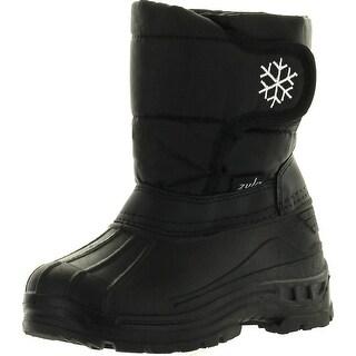 Static Kids Unisex Bdh-01 Snowflake Winter Waterproof Kids Snow Boots Adjustable Closure
