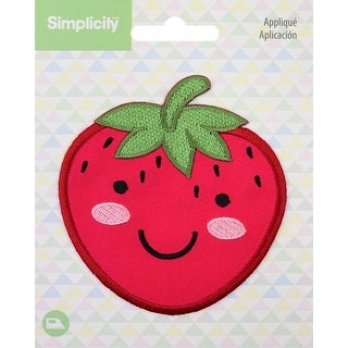Wrights Baby Iron-On Applique-Strawberry