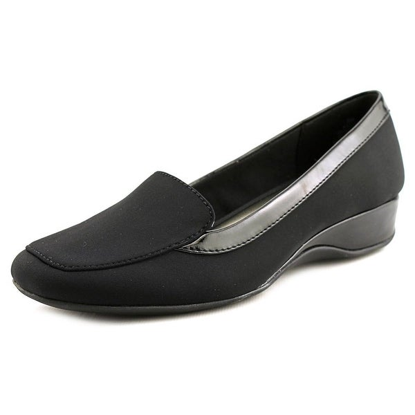 Bandolino Lilas Women Square Toe Canvas Black Loafer