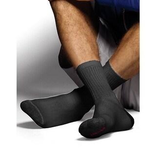 Hanes Classics Men's ComfortSoft Crew Socks Black 6-Pack